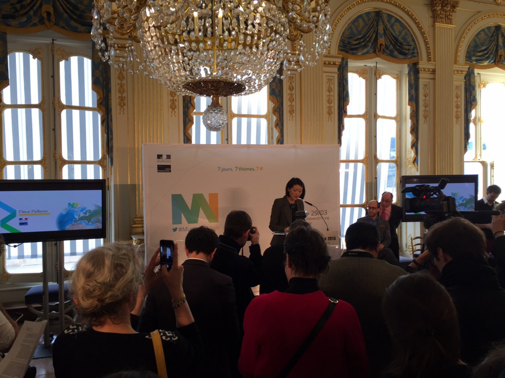 Fleur Pellerin, French Minister of culture and communications giving a speech at #museumweek launch
