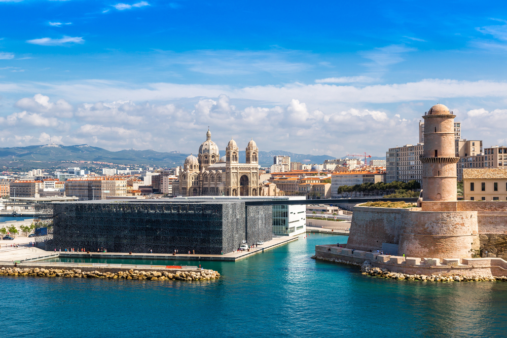 Saint Jean Castle and Cathedral de la Major and the Vieux port in Marseille, France Shutterstock